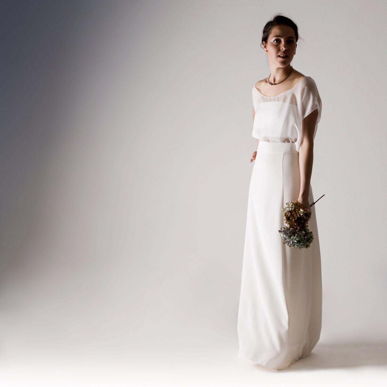 Hochzeitskleid trennt Hochzeitskleid weiße Seide Hochzeit