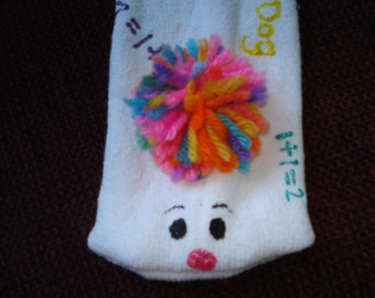 Sock puppet classroom teacher Daycare numbers spelling math