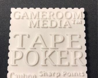 Tape Poker, Perler beads, tape method, pixel art, art tools, masking tape method, tape method, Perler art
