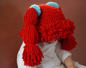 Cabbage Patch Crochet Baby Wig