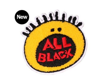 All Black Chenille Patch