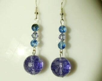 Beautiful Blue Purple Quartz Earrings