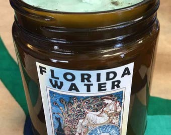 Florida Water scent soy candle - hoodoo - witchcraft - pagan