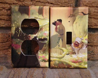 The Princess and the Frog Light Switch and Electrical Outlet Covers Tiana, Naveen, Louis, and Mama Odie, FP2