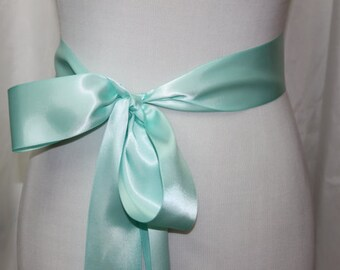 Aqua Sash, Aqua Wedding Sash, Aqua Bridal Sash, Aqua Bridesmaid Sash, Aqua Flower Girl Sash, Aqua Ribbon Sash, Aqua Blue Sash, Light Blue