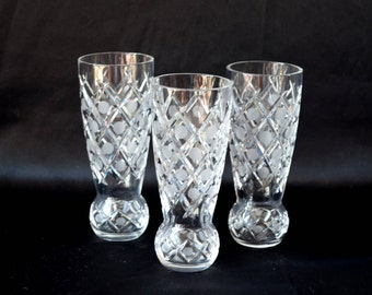Crystal shot glasses Clear vodka shot cut Crystal Shot vintage Shot glasses wine Crystal glasses stemmed glass Hand Cut Crystal barware