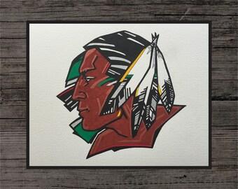 North Dakota Fighting Sioux Painting