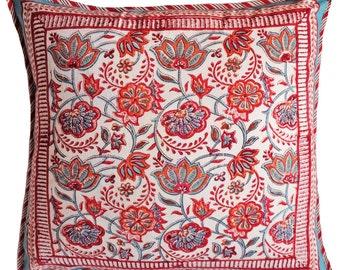 "Folkloric White cushion cover - Square 18"" x 18"""