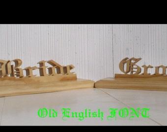 Bride and Groom, wedding decorations, rustic wedding, bridal table