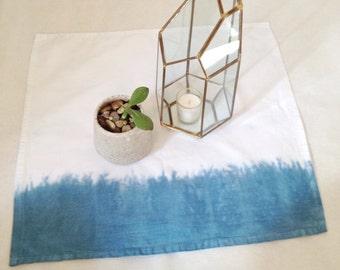 Individual indigo dip dyed napkin
