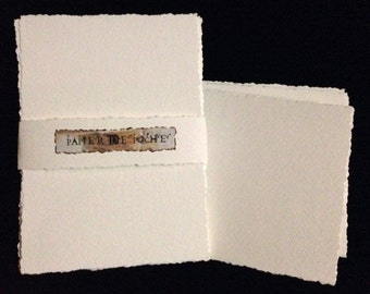 Packet of Approximately 4 x 6 Watercolor Paper or Multi-Media Paper/ Postcard size with Deckled Edges