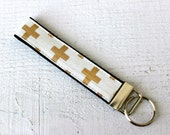 Key Fob Wristlet in Gold ...