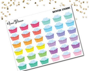 Bath time planner stickers me time