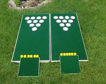 The REAL Beer Pong Golfhole- Cornhole Golf and Beer Pong in one!  Best Quality! Made in the U.S.A. - Not China, like others