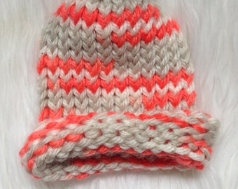 Coral reef baby beanie
