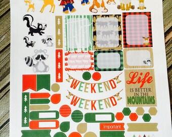 Weekly Planner Stickers Functional Sticker Woodland Animal Friends