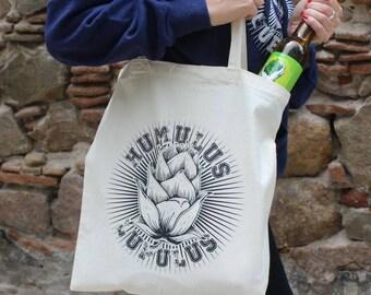 HUMULUS LUPULUS Tote bag, Craft beer, Home Brew, beer, Hoppy beer, fabric bag