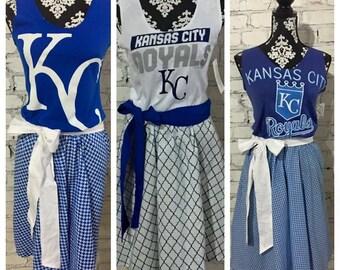 Ladies Game Day Team Spirit Dress - custom, made to order, choose your shirt/skirt print, baseball, football, sorority
