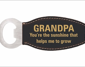 Grandpa Gift - Gifts for Grandfather from Granddaughter - Grandson - Magnetic Bottle Opener - Fathers Day Gift, LBO007