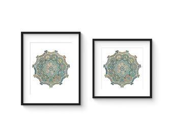TILE no.70 - Abstract Modern Geometric Haida Boheme Style Tile Art Print