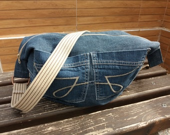 Denim bag,handbag,slouchy bag,shoulder bag,bags,jeans bag,streetfashion,grungestyle,hippie,Женские сумки,recycleddenim,Сумки,gifts,Tote bags