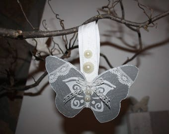 Butterfly wooden decorated and scented