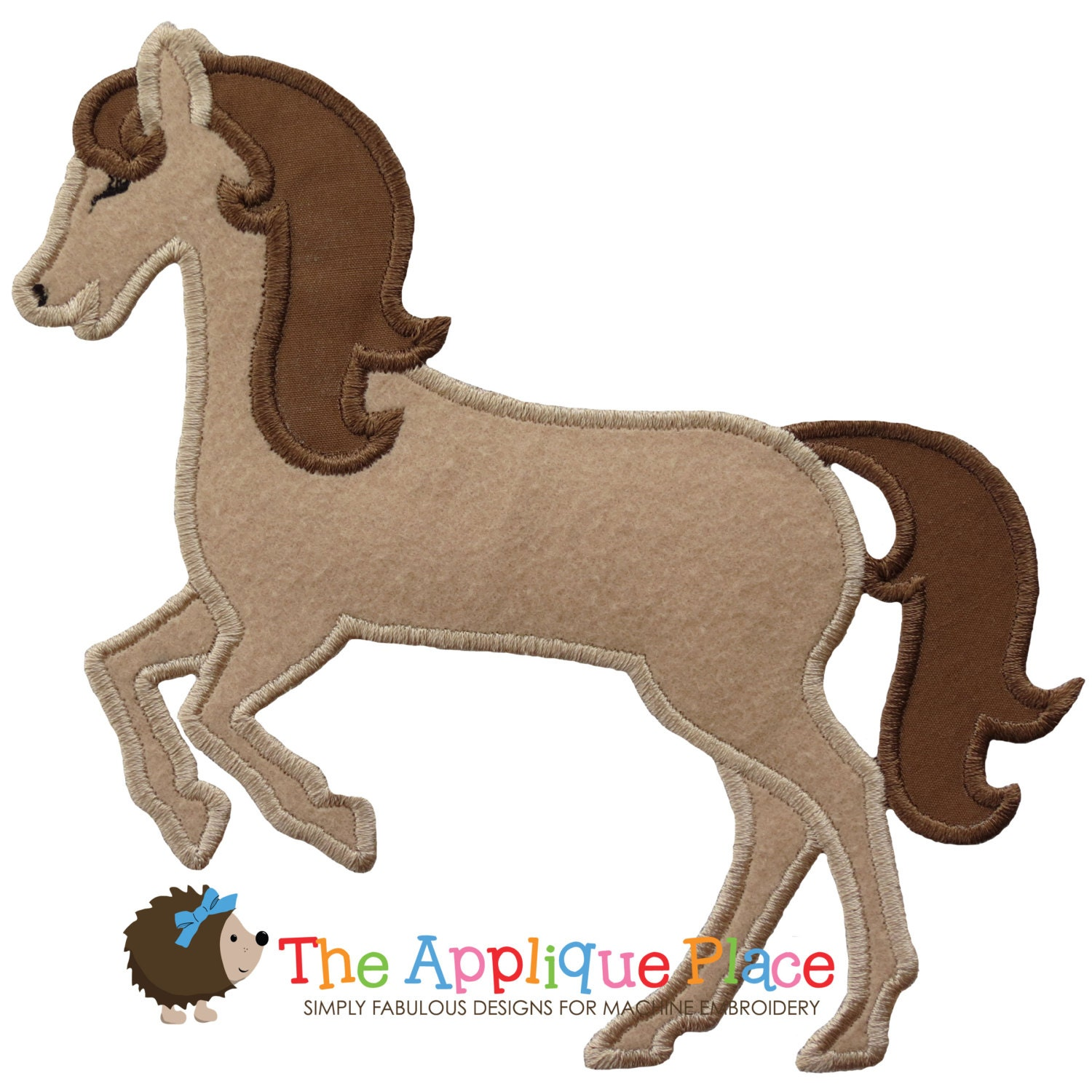 Horse 2 Applique Design Instant Digital Download File For