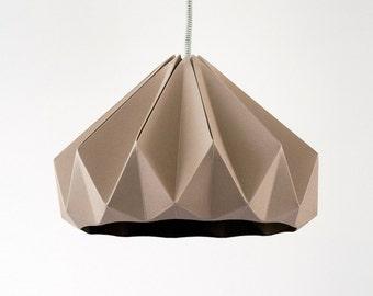 origami lamp Chestnut Cardboard Brown