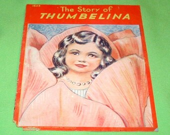 The story of Thumbelina vintage kids book