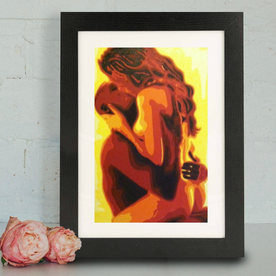 Oil paintings of interracial couples