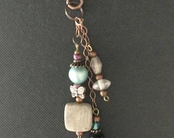 Copper Key Chain in earth tones