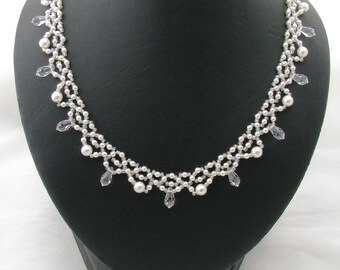 Swarovski Crystal & Pearl Necklace