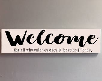 Welcome guests home decor sign