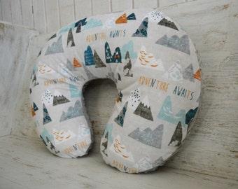 Boppy Cover ~ Adventure Awaits Boppy Cover ~ Outdoor Boppy Cover ~ Boppy Cover for Boy ~ Boppy Slip Cover ~ Nursery Bedding ~ Designer Minky