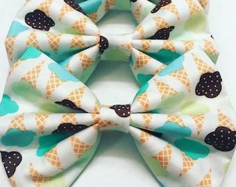 Ice Cream Cones Bow