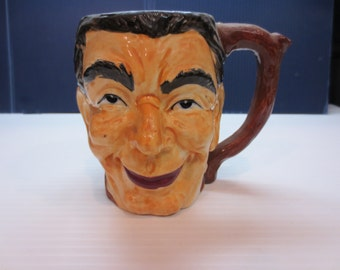 Vintage Hand Painted Toby Mug Made In Japan