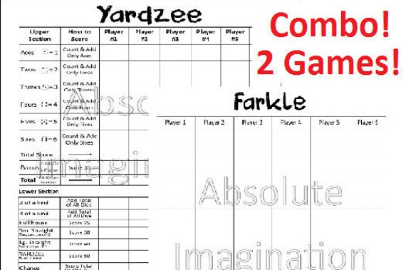 photograph relating to Printable Farkle Score Sheets called Popular Yardzee Ranking Card Printable #RM83