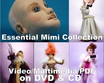 The Essential Mimi Collection - Cloth Dollmaking Patterns and Techniques - 4 Disc CD/DVD Set
