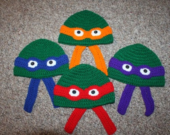 Teenage Mutant Ninja Turtle Hat Newborn - 12 years old