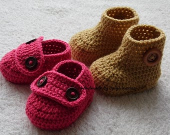 Baby booties crochet for newborn, 0-3 or 3-6 months, baby shower gift, shoes for baby girl, newborn girl booties, handmade boots and shoes