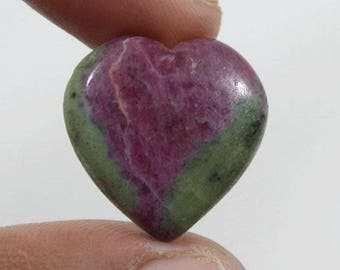 Ruby Zoisite cabochon 28.85Ct (23x22x6 mm) Heart Shape Natural gemstone  NS6456