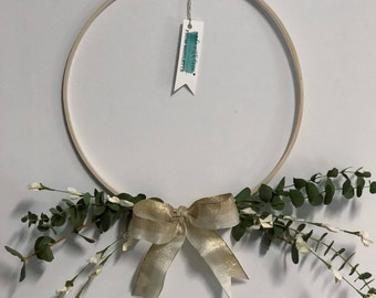 Baby Blue Eucalyptus Quarter Wreath