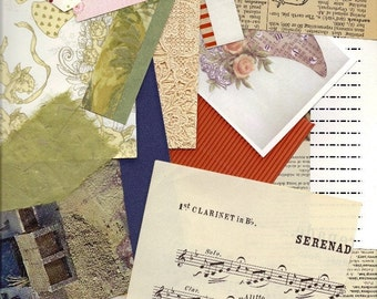 Scrap Paper Pack - 4 Ounces for Scrapbooking, Greeting Cards, ATCs, ACEOs, Paper Arts, Tags and MORE PSS 0414