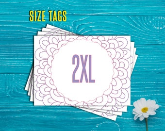 SaLe! SIZE Cards - Size Tags - Size Cards - Business - Marketing - Hanger Tags - Pricing Name Cards - Newly Released - Instant Download!