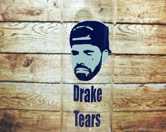 Glass water bottle for Drake's tears