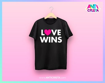 Love Wins (black t-shirt)