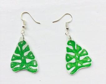 SALE: Exotic Leaf Earrings