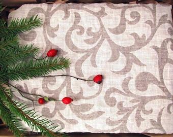 Jacquard Heavy Flax Rich Large Towel, Flax Bath Towel,Housewarming Gift, Wet Hair Towel, Linen SPA Towel, Flax Beach Towel, Flax Sport Towel