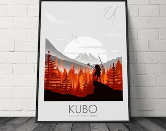 Kubo And The Two Strings Minimalist Movie Poster, Film Print, Movie Print, Film Poster, Art Prints, Home Decor, Wall Art, Prints, Poster