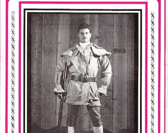 Eagle's View 92 Caped Woodsman's Frock Coat Sewing Pattern Size Sm - XXL Wrap Style Early 19th Century Fabric or Leather Layout Uncut
